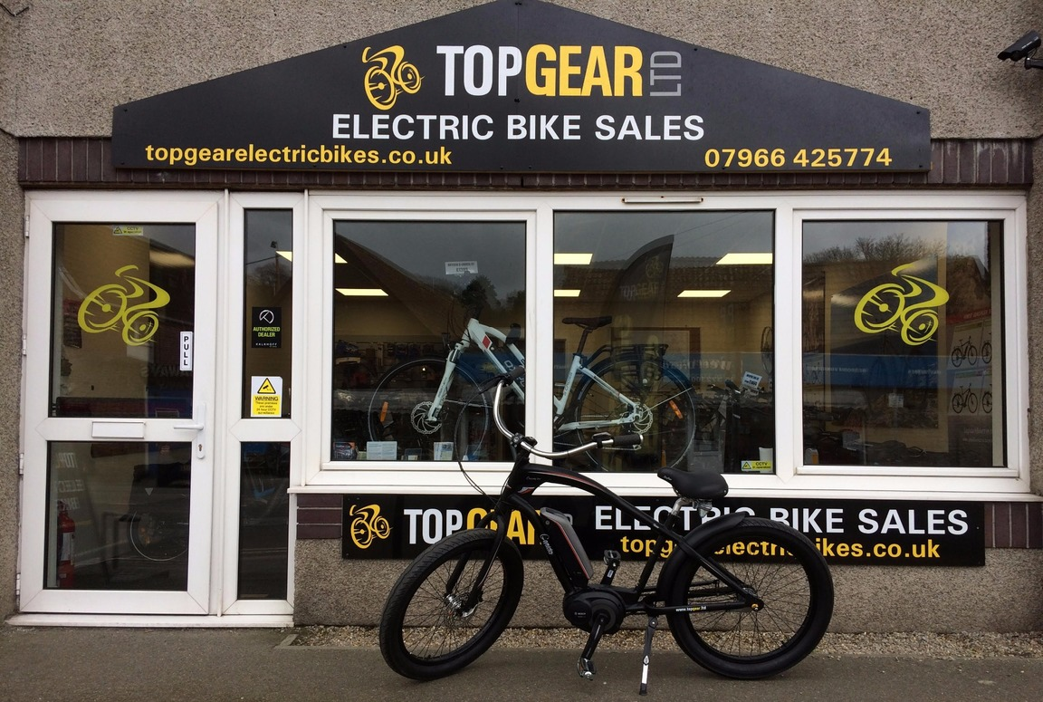 Peter Williams from Top Gear Ltd electric bikes, Penryn, Cornwall